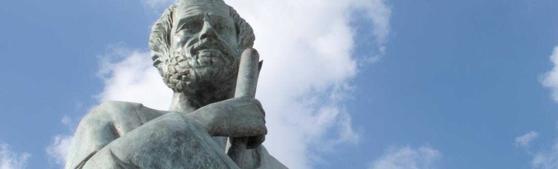 Statue of Aristotle, a great greek philosopher